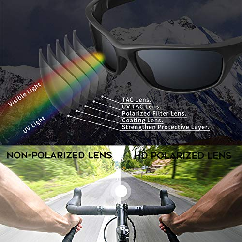 dcf92f2c0d6b Versol Polarized Sports Sunglasses for Men Women Cycling Running Driving Fishing  Golf Baseball Sunglasses Durable Frame