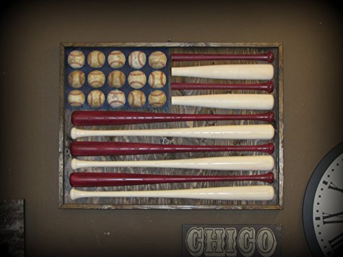 Baseball Bat American Flag by Chico Lumber Company