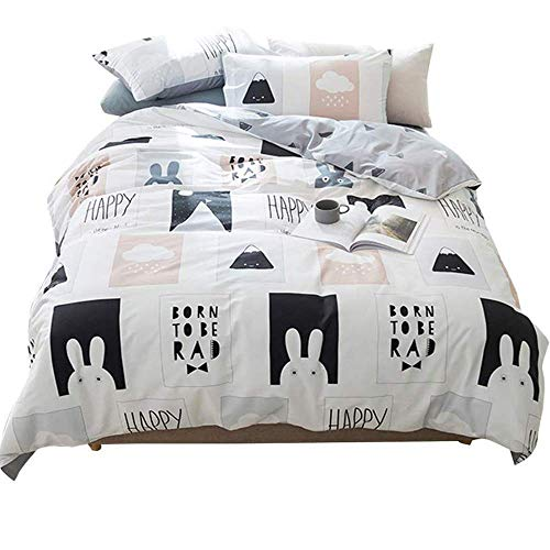 AMWAN Cartoon Rabbit Print Kids Bedding Duvet Cover, used for sale  Delivered anywhere in USA