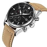 Watch,Mens Watch,Mens Casual Business Genuine Leather Watch,Dress Fashion Multifunction Waterproof Wrist Watch