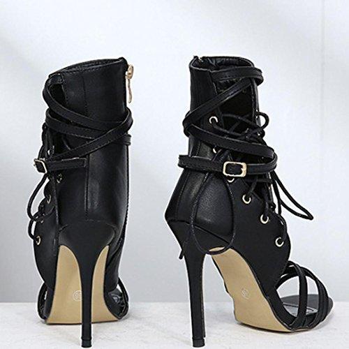 Roman Femmes Chaussures Chaussure Bottines Sandales Sandales Strap Buckle Sexy Femme Hauts Femme Talons Sandales Zx4W66nH