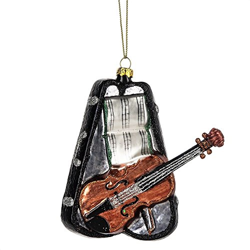 MIDWEST-CBK Glass Violin with Case Christmas Ornament