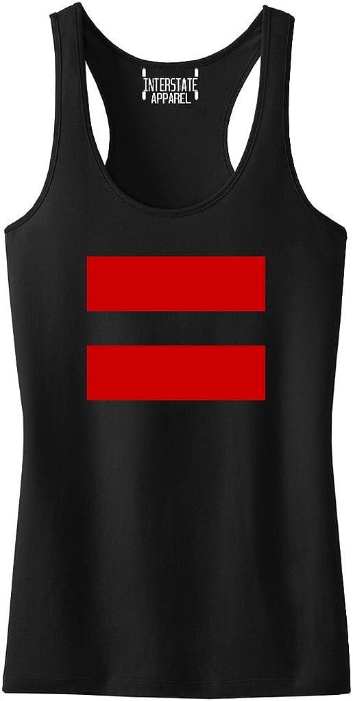 Junior/'s Rainbow Flag Gay OK Black Racerback Tank Top LGBT Lesbian Pride V228
