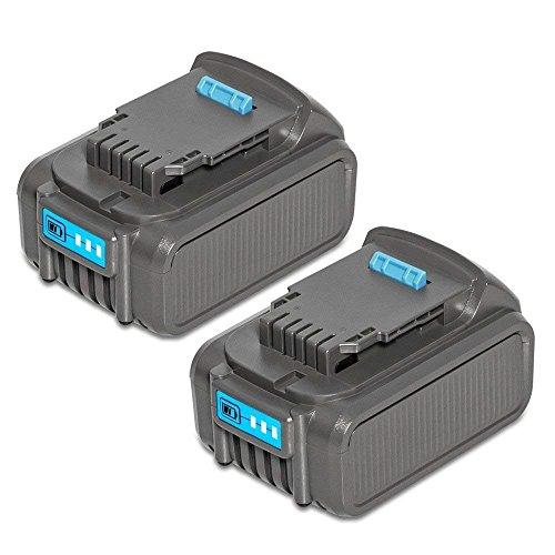 Li Premium Battery Ion (LiBatter 2Pack 20V MAX 6.0Ah Lithium Ion Premium Battery for DEWALT DCB204 DCB205 DCB206 DCB205-2 DCB200 DCB180 DCD985B DCD771C2 DCS355D1 DCD790B)