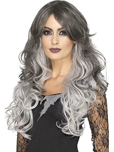 Smiffy's Women's Deluxe Gothic Bride Wig, Grey, One (Ladies Halloween Costumes 2017 Uk)