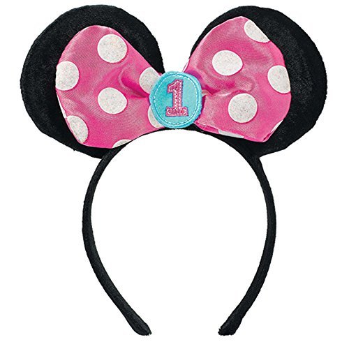 Minnie Mouse 1st Birthday 'Fun to Be One' Deluxe Headband (1ct)