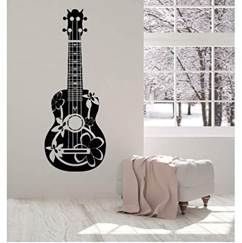 Vinyl Wall Applique Acoustic Guitarist Guitar Musician Detachable Poster Home Art Design Decoration 42x111cm