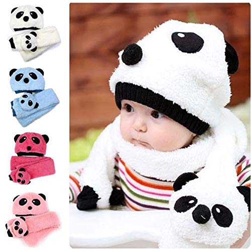 c5a94829ec9 Image Unavailable. Image not available for. Color  Vansop Hot Toddler Infant  Unisex Girl Boy Baby Hat Cap Beanie + Scarf Panda Cartoon Two