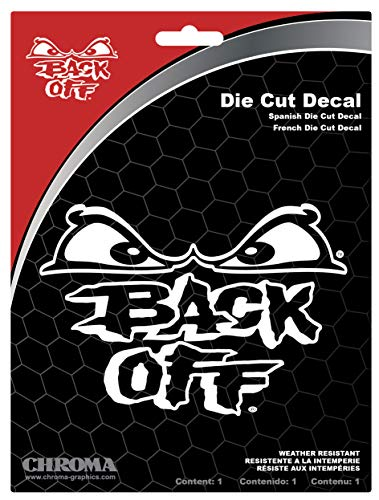 Chroma 3613 Back Off Die Cutz - White Decal