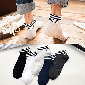 YANXUEPING 5 Pares de Calcetines, Hombre de Fino algodón Calcetines, Medias, Calcetines de