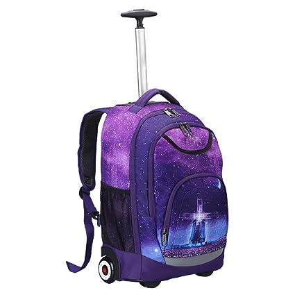 BVC Ligero Mochila Trolley Colegio Viajar Libro Ordenador Portátil 18 Pulgadas Mochila con Ruedas para Niños