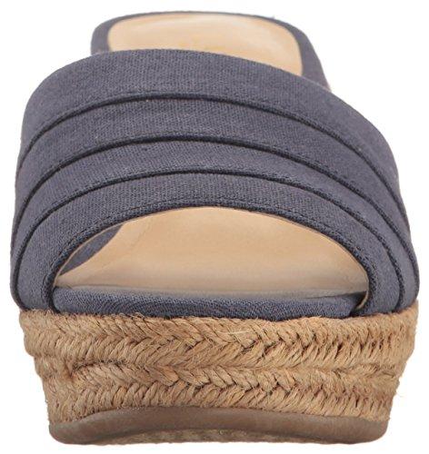 Lauren Toe Leather Ralph Navy Womens Open Karlia Lauren Casual US Platform Sandals fYqwwIx6d