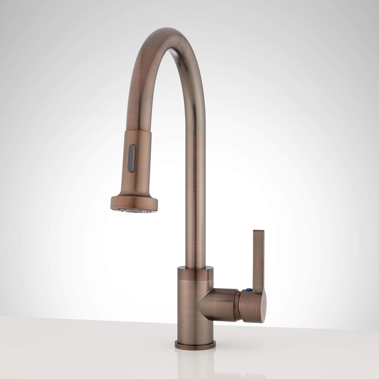 Signature Hardware 436899 Brusco 1.8 GPM Single Hole Pull-Down Kitchen Faucet