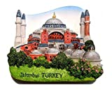 Hagia Sophia Istanbul Turkey Souvenir Fridge Magnet Toy Set 3D Resin Collection