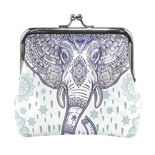 Coin Purse Beautiful Bohemian Elephant Paisley Womens Wallet Clutch Bag Girls Small - Elephant Pouch Faux Fur