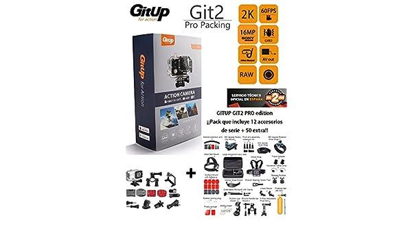 Camara Deportiva GitUp Git2 Pro Edition + Maleta con 50 ...