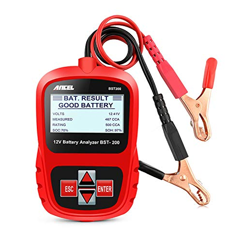 ANCEL BST200 Battery Load Tester 12V 100-1100 CCA Automotive Bad Cell Test Tool Digital Analyzer