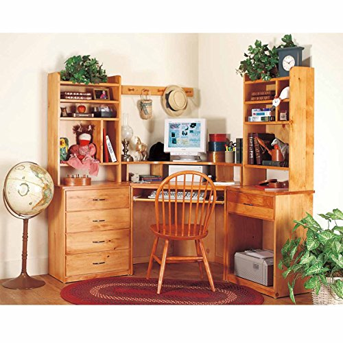 Office Desk Unfinished Solid Pine Printer Stand 1 Drawer   Renovator's Supply by Renovator's Supply