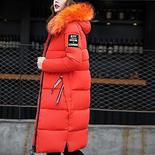sólido abrigo Down abrigo Las más mujeres abrigo Slim grueso Invierno Casual Internet naranja chaqueta Lammy Escudo Uf6qRwIU
