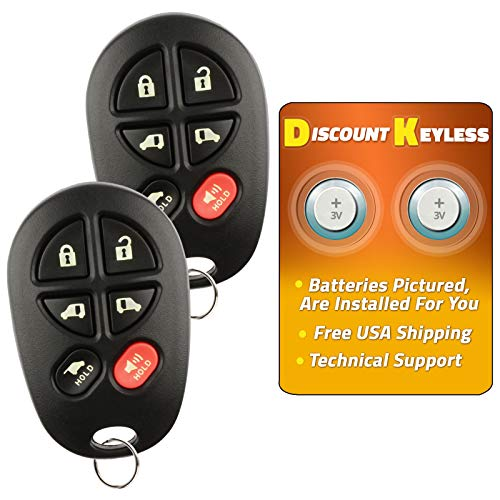 Discount Keyless Replacement Hatch Van Doors Key Fob Car Entry Remote For Toyota Sienna GQ43VT20T (2 Pack)