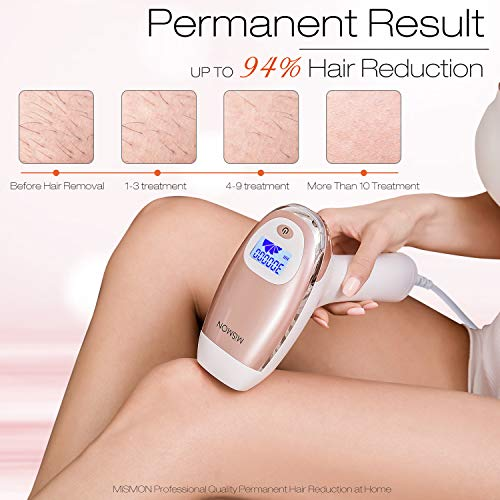 Laser Hair Removal For Women, MiSMON IPL Hair Removal Device for Men/Women Permanent Results on Face and Body - Safe And Effective IPL Technology