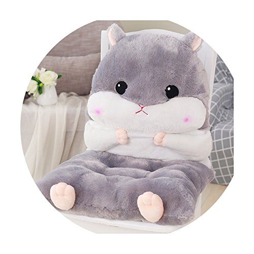 (Hot Sell Cartoon Pillow Cute Hamster Home Decoration Pillow Office Padded Cushion,Hamster Gray,About 45x90cm)