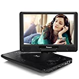 NAVISKAUTO 12' Portable Blu Ray DVD Player Support HDMI Out, 1080P Video, Sync Screen, USB SD, Dolby Audio, Last Memory