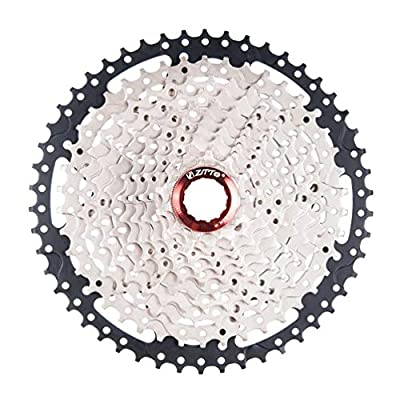 Oyamihin ZTTO 11 Speed Cassette 11-50T Compatible Road Bike Shimano Sram System High Tensile Steel Sprockets Folding Black Silver Gear - Black Silver