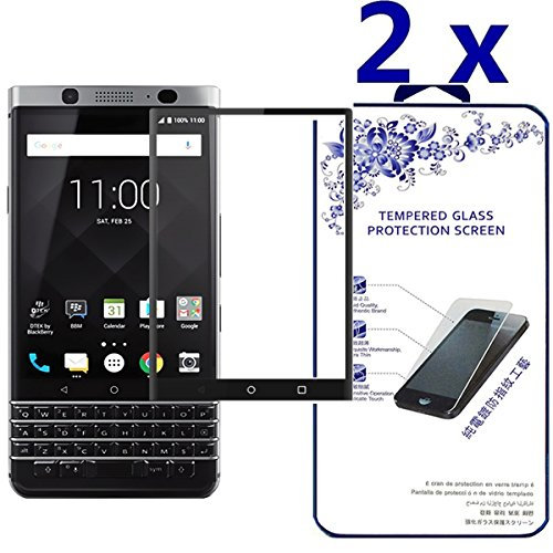 - BlackBerry KeyOne / DTEK70 Screen Protector, [2-Pack] Tempered Glass Full Coverage 3D Curved High Definition [Edge to Edge] Anti-Bubble Screen Cover for BlackBerry KeyOne/BlackBerry DTEK70