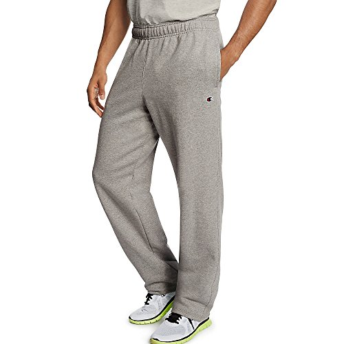 - Champion Men's Powerblend Open Bottom Fleece Pant_Oxford Grey_2XL