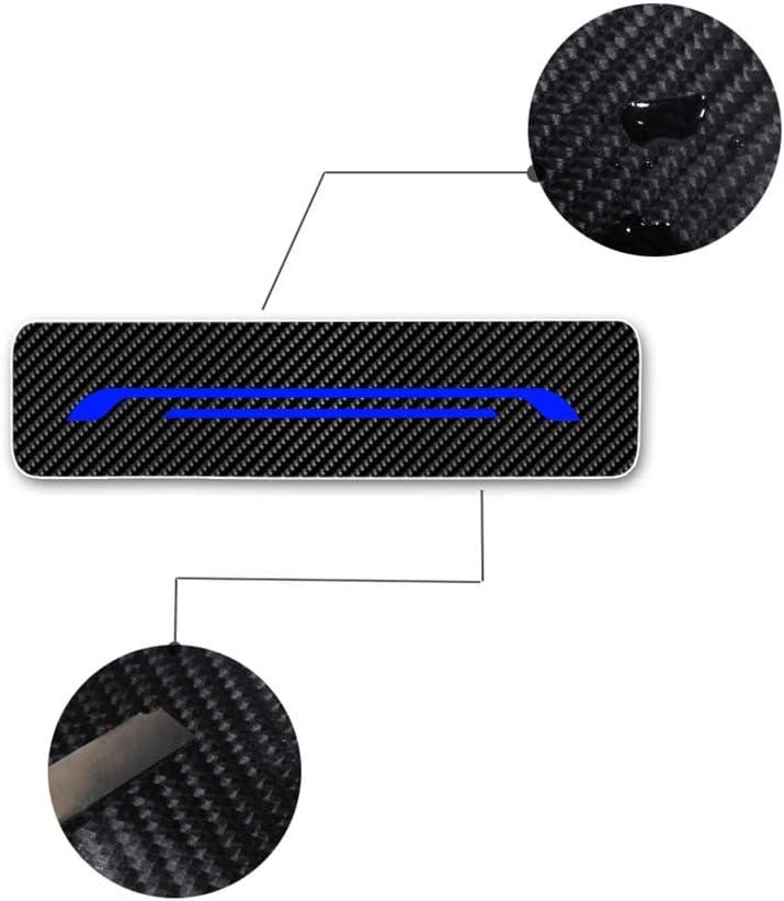 Battitacco Auto Esterno Batticalcagno per Q30 Q50 Q60 Q70 QX30 QX50 QX70 Adesivi delle Soglie delle Porte in Fibra di Carbonio Bianco 4 pezzi