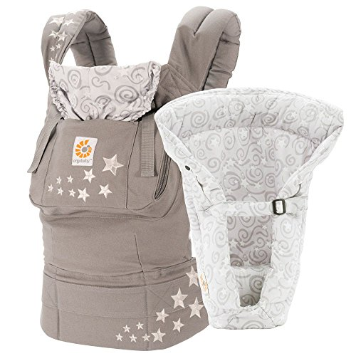Ergobaby 3 Position Original Bundle of Joy with Easy Snug Infant Insert, Galaxy Grey (Newborn Ergo Insert)