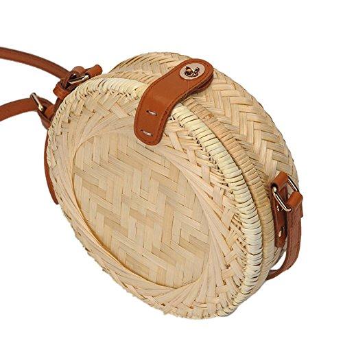 la rond à Bag Sac bandoulière tressé rotin A bandoulière Sac à main à iBelly Beach en tressé ZwTgqWcwxC