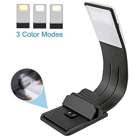 EasyULT LED Lampara de lectura,Luz de Libro USB Recargable,3 Modos ...