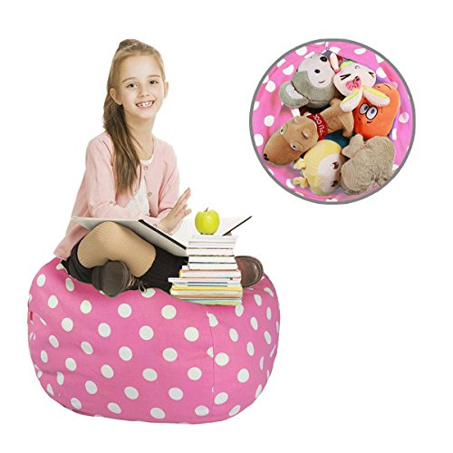 Kids Animal Bag-Stuffed Animal Storage Bean Bag Chair-100% c