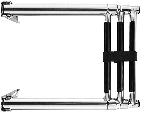Telescópica Escalera plegable 3 Pasos barco de la cubierta de acero inoxidable 304 fuera de borda