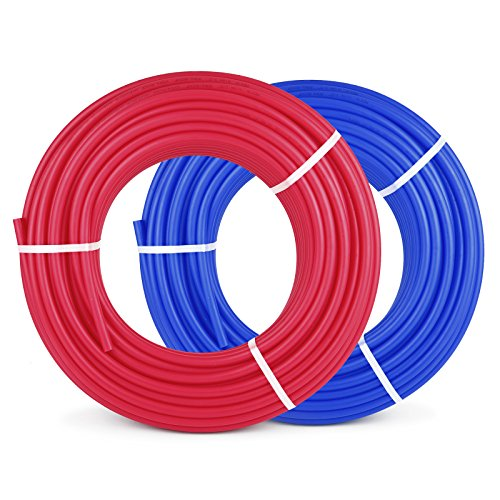 Happybuy 1/2 Inch PEX Tubing Potable Water Tube 2 Rolls X 300 FT PEX-B Plumbing Pipe Non-Barrier Coil for Water Plumbing Open Loop Radiant Hydronic Heating Systems (1/2