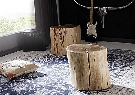Naturale idol sgabello albero tronco acacia massiccio laccato