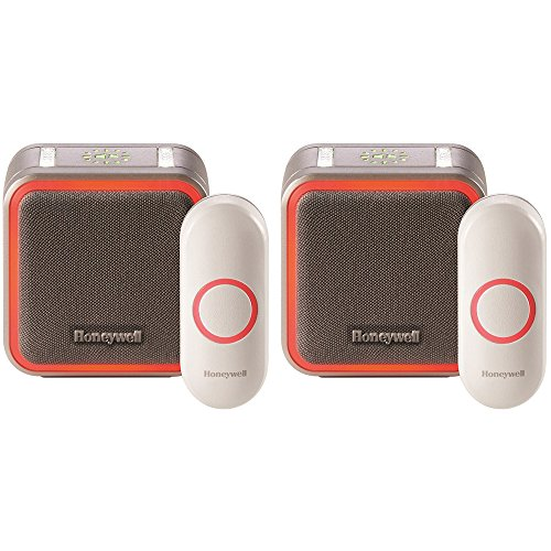 Honeywell Portable Wireless Doorbell with Halo Light and Push Button 2 Pack (RDWL515A2000/E)