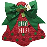 Christmas Bell Gender Reveal Pinata Boy or Girl Pull Strings Style