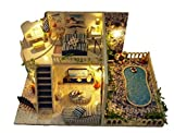Tmrow 1pc DIY Santorini Dollhouse Wooden Miniature Kit X-mas Gift