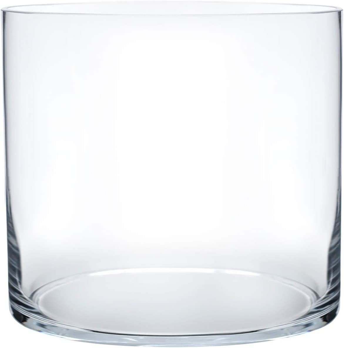 Royal Imports Flower Glass Vase Decorative Centerpiece for Home or Wedding Cylinder Shape 4 Tall 4 Opening Clear