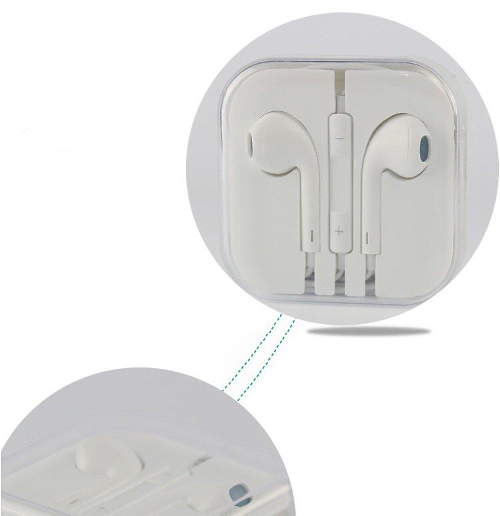 標準Android iPhone iPadイヤホンインナーイヤーステレオモバイルヘッドセットwithリモートコントロールon Cord Noise Isolating B078XF6VBJ