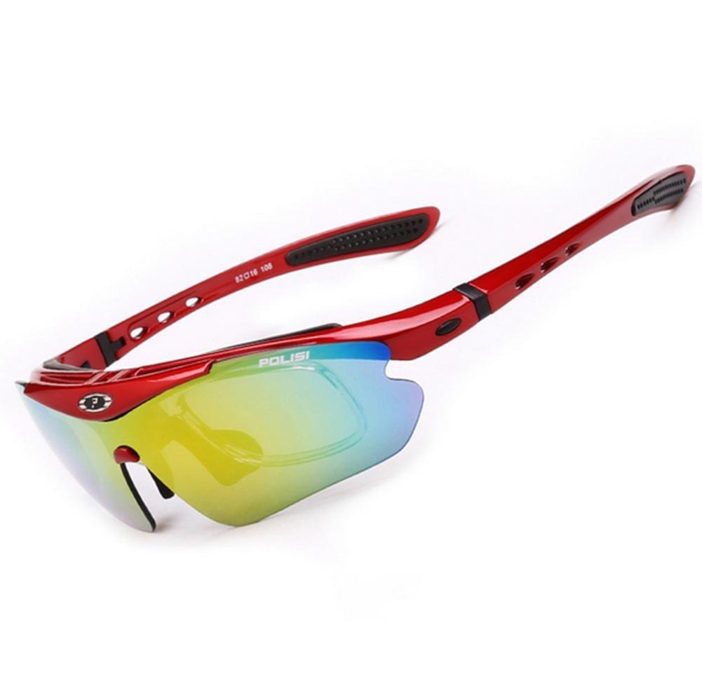 DZW Herren Sonnenbrillen werden polarisierte Spiegel, die die winddichten Brille draußen Reiten Brille eingeschaltet werden können geändert Sonnenbrillen , ROT
