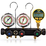CPS MV5H3D Deep Vacuum 5 Valve Manifold with Oil Filled Gauges