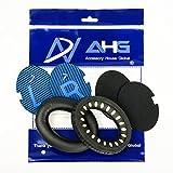 Replacement ear cushions for Bose Quiet Comfort 2 (QC2) and Quiet Comfort 15 (QC15) headphones (QC2/QC15, Black) (QC2/15 Ear Pads, Black)