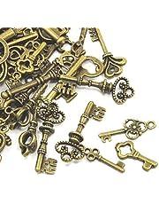 30 grammes Bronze Antique Tibétain Mélange Aléatoire Breloques (Clé) - (HA09360) - Charming Beads