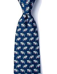 Men's 100% Silk Somethings Fishy Swimming Fish Novelty Tie Necktie