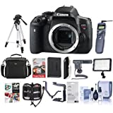 Canon EOS Rebel T6i DSLR Body - Bundle with 64GB SDHC Card, Remote Trigger, Camera Case. Tripod, Video Light, Shotgun Mic, Spare Battery, Software Package And More