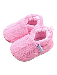 Han Shi Toddler Shoes, Unisex Baby Super Warm Woolen Yarn Boots for New Walker Toddlers